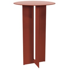 Mers Cafe Table in Powdercoat Aluminum Ochre
