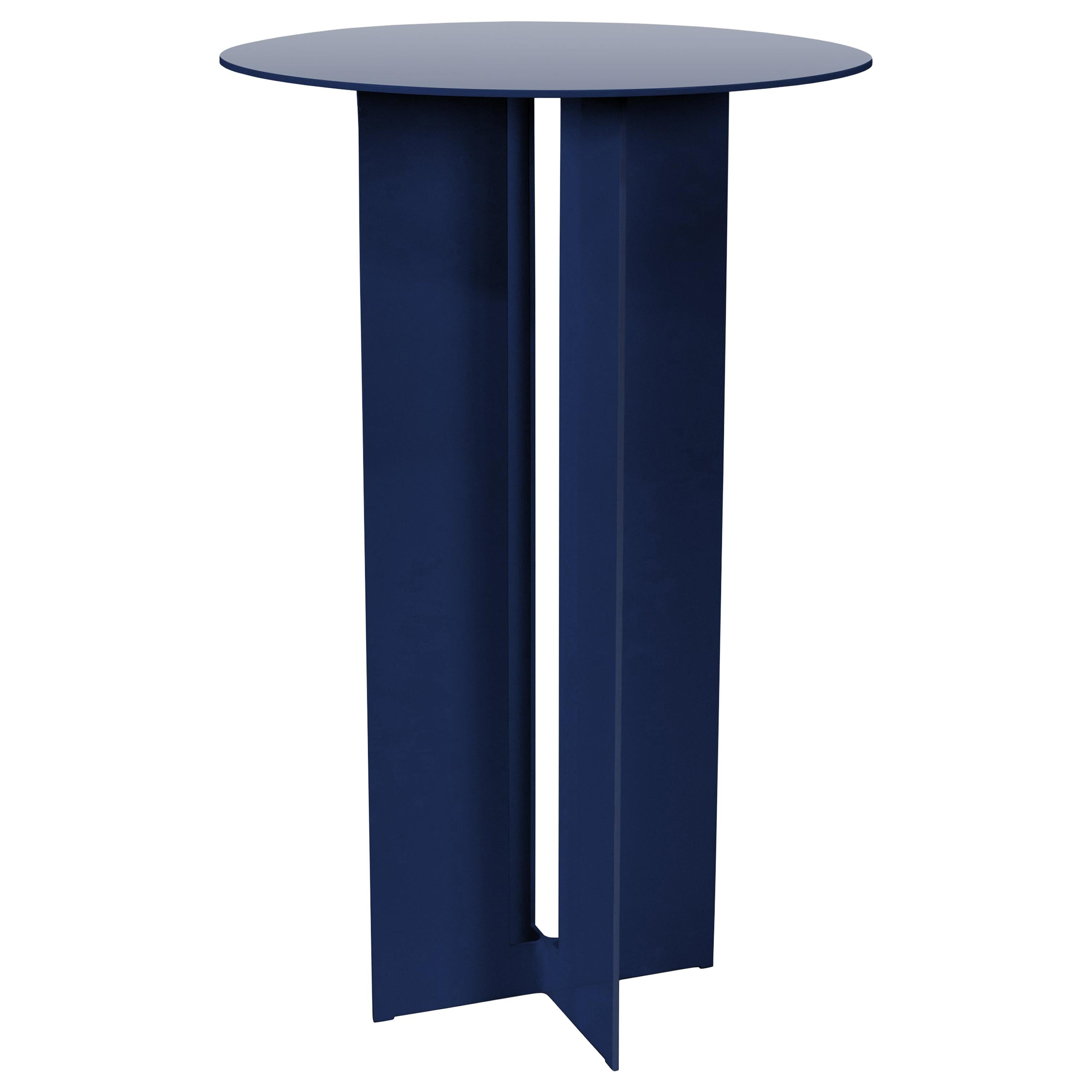 Mers Cafe Table in Powdercoat Aluminum Pacific Blue
