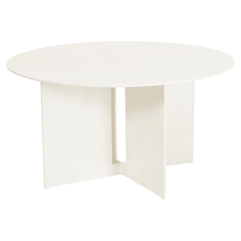 Mers Coffee Table in Aluminum Powdercoat Cream For Sale