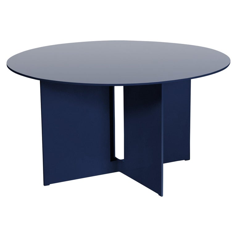 Mers Coffee Table in Aluminum Powdercoat Pacific Blue For Sale