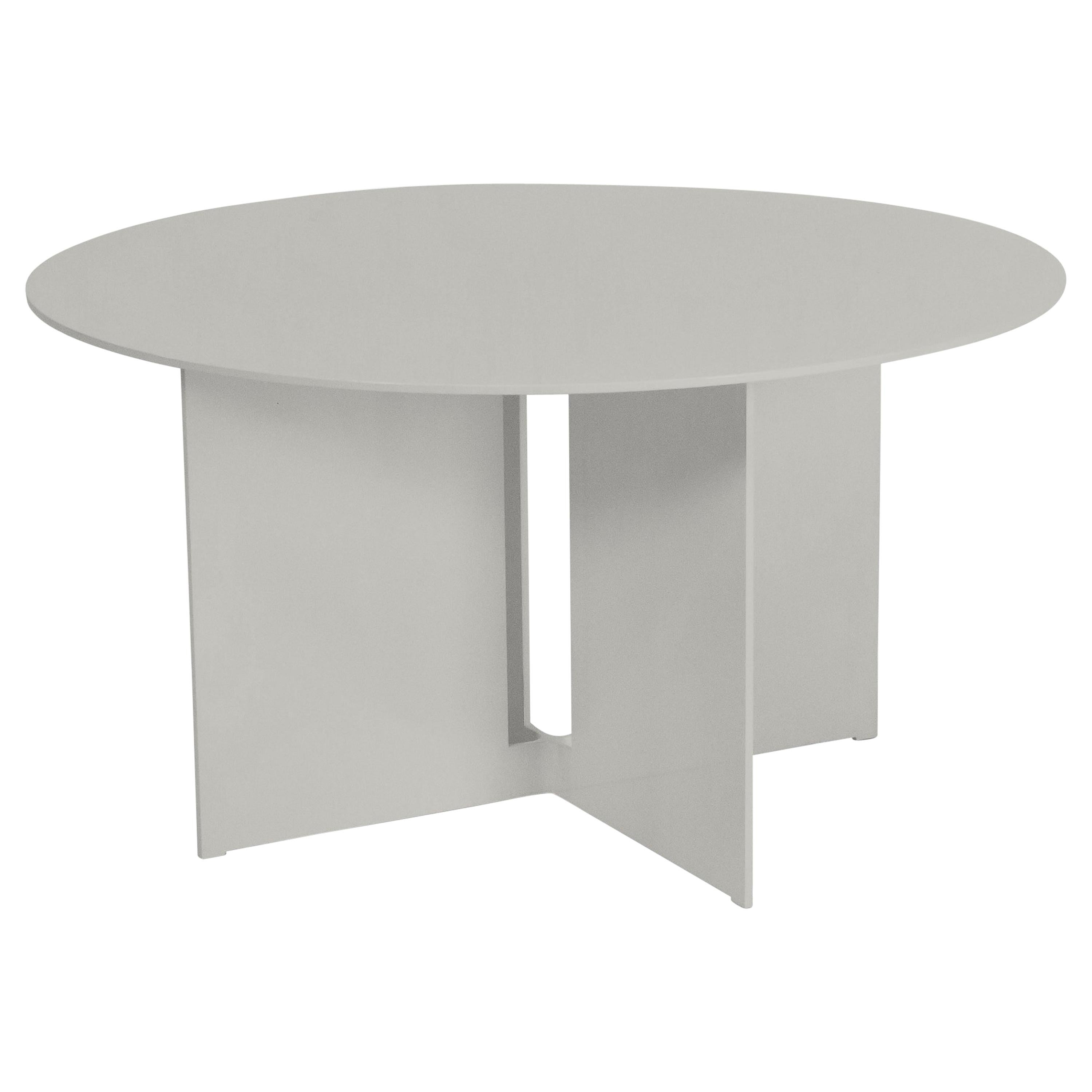Mers Coffee Table in Aluminum Satin