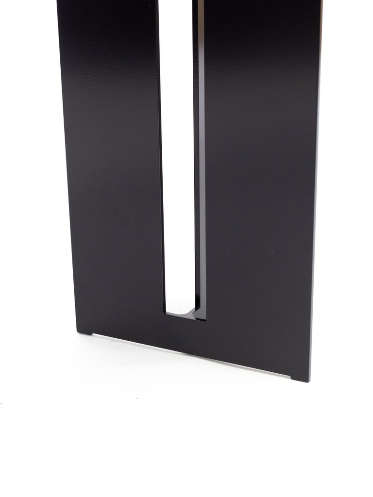 Canadian Mers Console Table in Powdercoat Aluminum Black For Sale