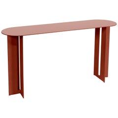 Mers Console Table in Powdercoat Aluminum Ochre