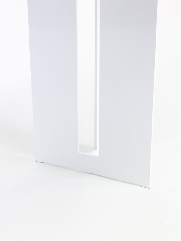 Modern Mers Console Table in Powdercoat Aluminum White For Sale