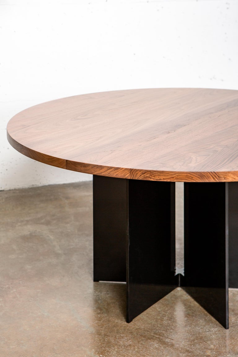 Modern Mers Dining Table in Aluminum Powdercoat Black For Sale