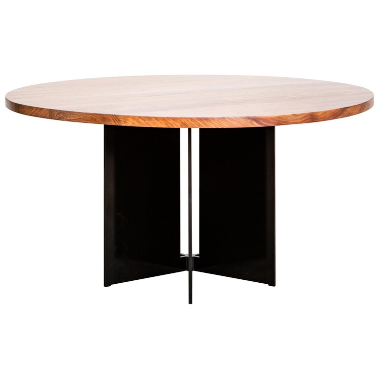 Mers Dining Table in Aluminum Powdercoat Black For Sale