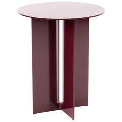 Mers Side Table in Powdercoat Aluminum Burgundy
