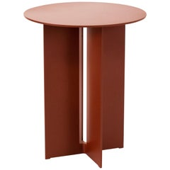 Mers Side Table in Powdercoat Aluminum Ochre