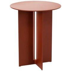 Mers Side Table in Powdercoat Aluminum Ochre