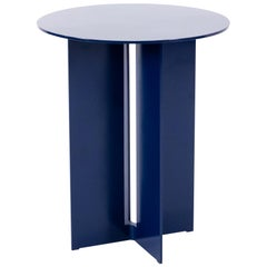 Mers Side Table in Powdercoat Aluminum Pacific Blue