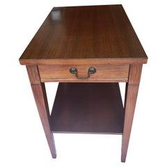 Mersman Two Tier Single Drawer Mahogany Side Table
