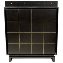 Merton Gershun Ebonized Highboy American of Martinsville