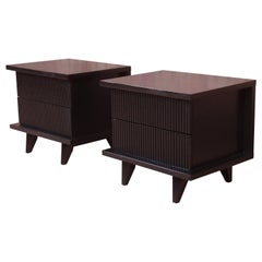 Merton Gershun for American of Martinsville Lacquered Nightstands, Refinished