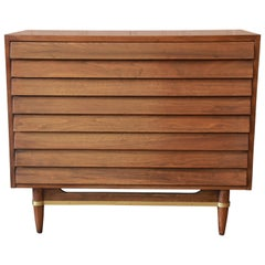Merton Gershun for American of Martinsville Louvered Front Server or Small Chest