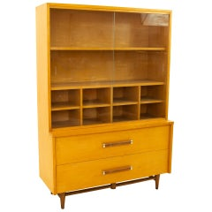 Merton Gershun for American of Martinsville Urban Suburban Blonde Buffet & Hutch