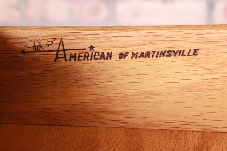 Merton Gershun for American of Martinsville Walnut Nightstands, Newly Restored For Sale 10