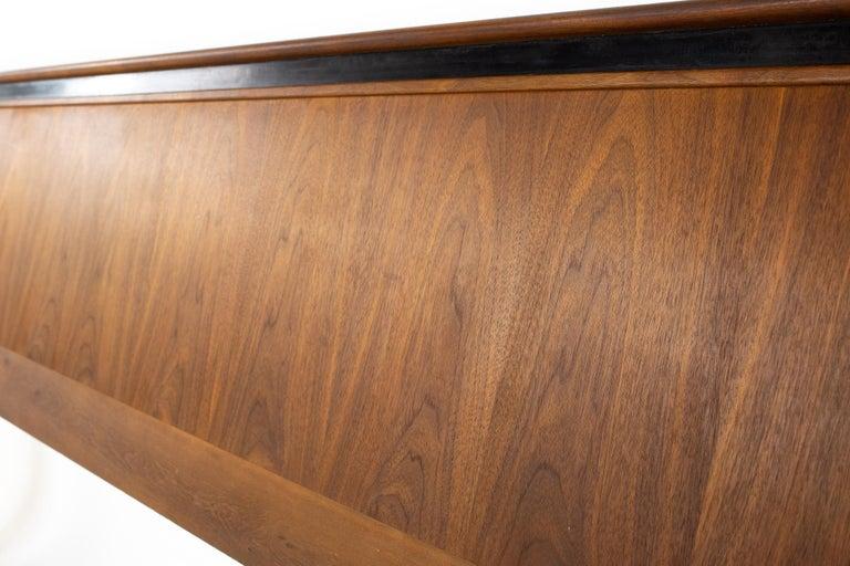 American Merton Gershun for Dillingham Esprit Mid Century Walnut King Headboard For Sale
