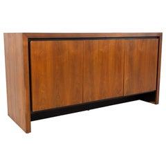Merton Gershun for Dillingham Mid Century Walnut Sideboard Buffet Credenza