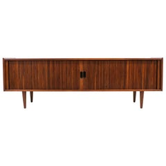 Merton L. Gershun Low Profile Tambour-Door Credenza for Dillingham