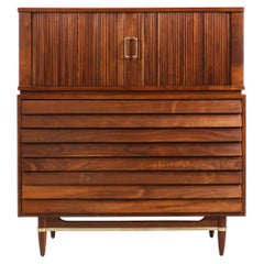 Merton L. Gershun Tambour-Door Chest of Drawers by American of Martinsville