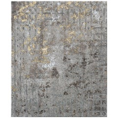 Meru North Contemporary Textured Hand-Knotted Wool and Silk 10x13,4 Rug