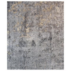 Meru North, Living Room Hand Knotted Wool Silk Rug