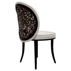 Merveille Dining Chair in Radiance Velvet Color Cream
