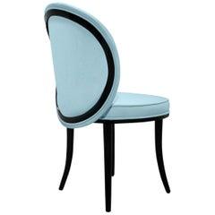 Merveille II Dining Chair in Lux Velvet Color Baby Blue