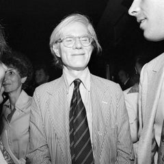 Andy Warhol Smiling with Eyes Closed, Studio 54