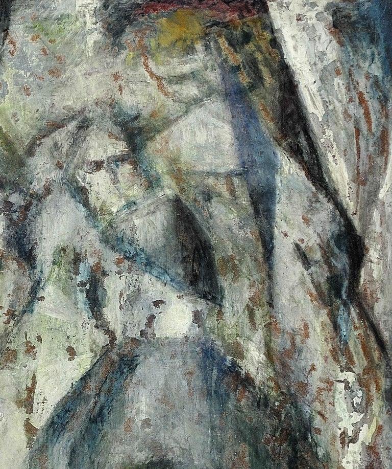 Enigma. Original Oil Painting. Eccentric & Bohemian. Modern British. Welsh. For Sale 5