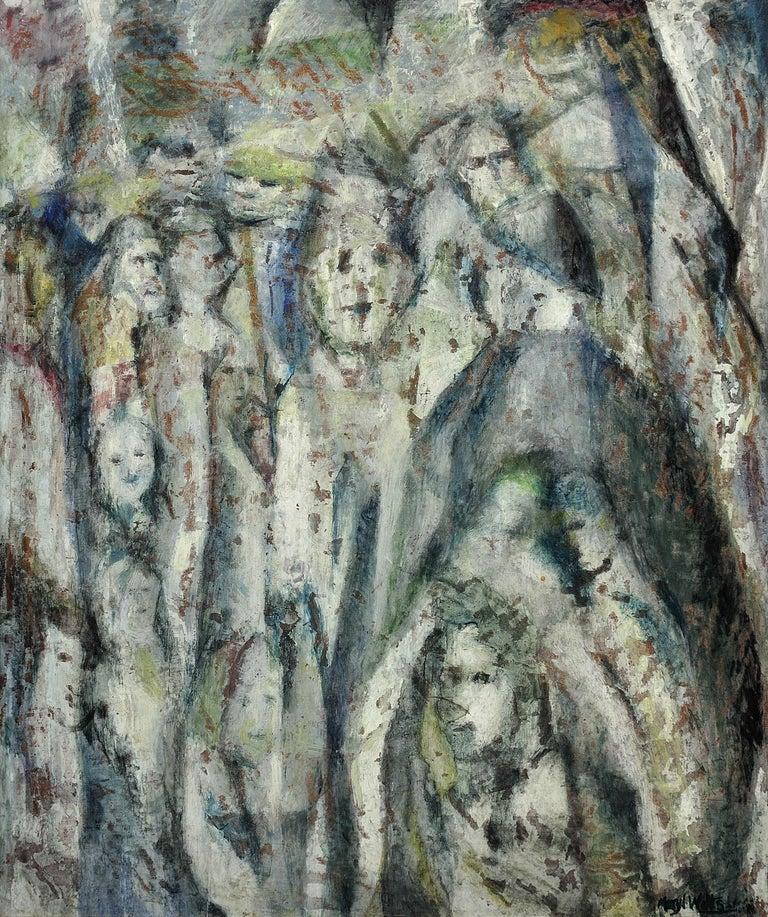 Meryl Watts Abstract Painting - Enigma. Original Oil Painting. Eccentric & Bohemian. Modern British. Welsh.
