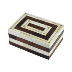 Mesa Box in Natural and Brown Bone by CuratedKravet