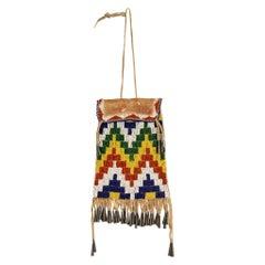 Mescalero Apache Beaded Dispatch Bag, circa 1880
