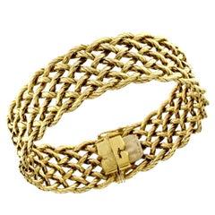 Mesh Chain Bracelet 18 Karat Gold