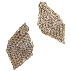 Mesh Earrings with 17.67 Carat Marquise Diamonds