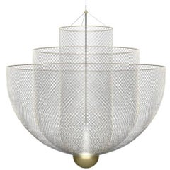 Meshmatics Dimmable LED Chandelier in Galvanized Steel and Brass for Moooi
