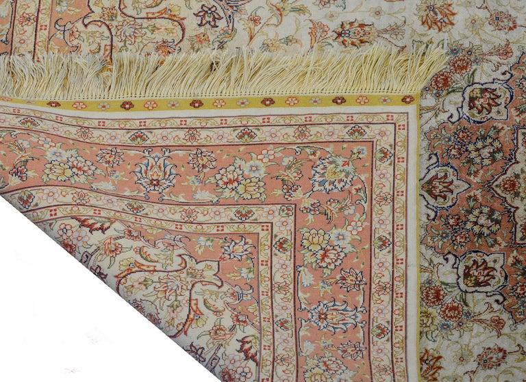 Mesmerizing Egyptian Silk Tabriz Rug For Sale 5