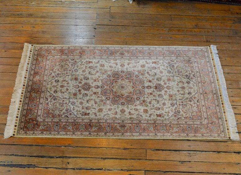 Mesmerizing Egyptian Silk Tabriz Rug For Sale 6