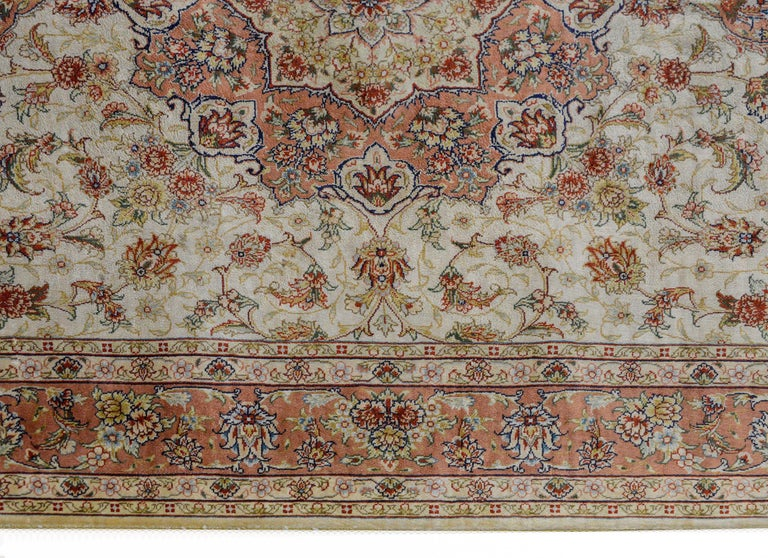 Mesmerizing Egyptian Silk Tabriz Rug In Good Condition For Sale In Chicago, IL