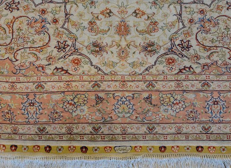 Mesmerizing Egyptian Silk Tabriz Rug For Sale 1