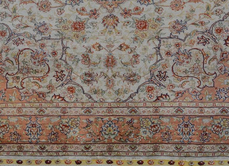 Mesmerizing Egyptian Silk Tabriz Rug For Sale 3