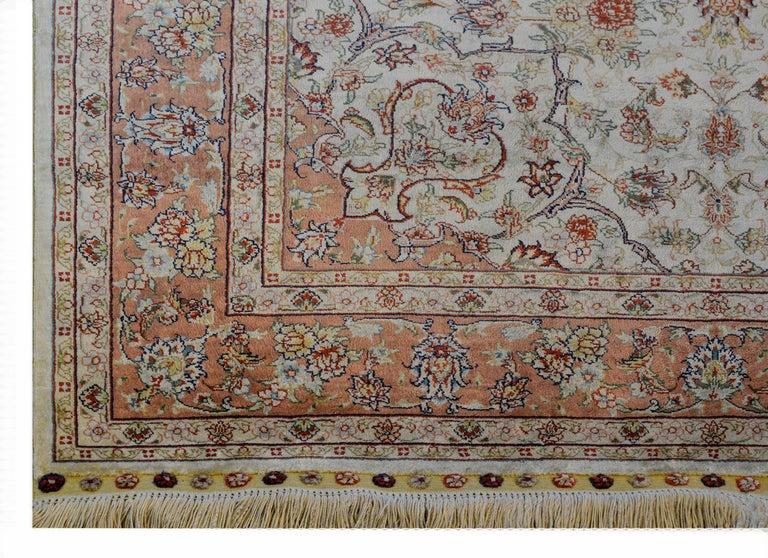 Mesmerizing Egyptian Silk Tabriz Rug For Sale 4