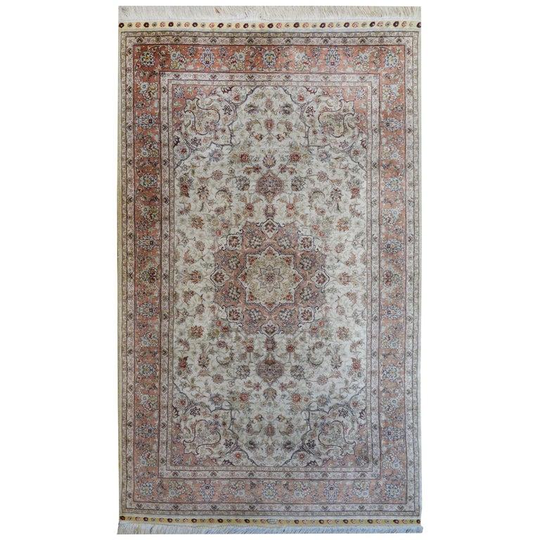 Mesmerizing Egyptian Silk Tabriz Rug For Sale
