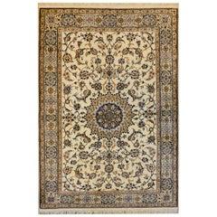 Mesmerizing Silk and Wool Isfahan Rug