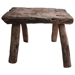 Mesquite Milking Stool from Mexico, circa 1940s