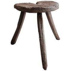 Mesquite Stool from Mexico, 1950s