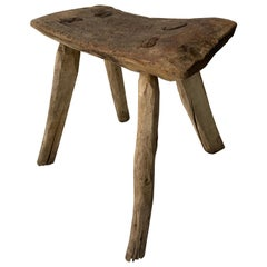 Mesquite Stool from Mexico, circa 1930s