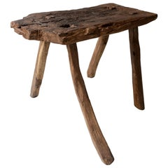Mesquite Stool from Mexico, Circa 1930's