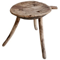 Mesquite Stool with Handle from Mexico