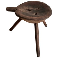 Mesquite Work Stool from Mexico